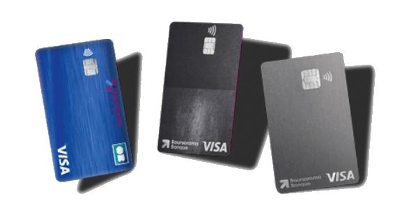 Le comparatif des cartes bancaires Boursorama